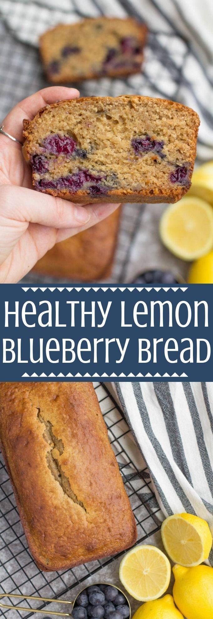 Healthy Lemon Blueberry Bread   - Clean Eating Breakfast Ideas -