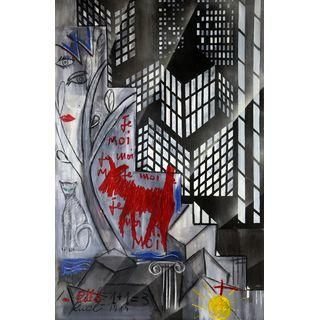 David Rucli, 1+1=3, Painting