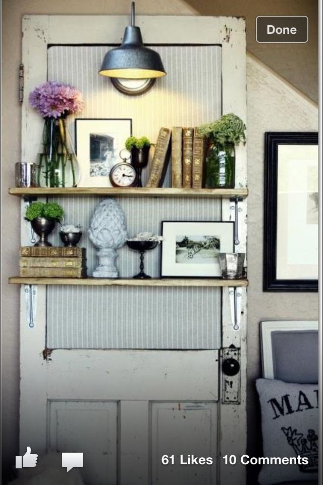 Shelves on an old door, my next project