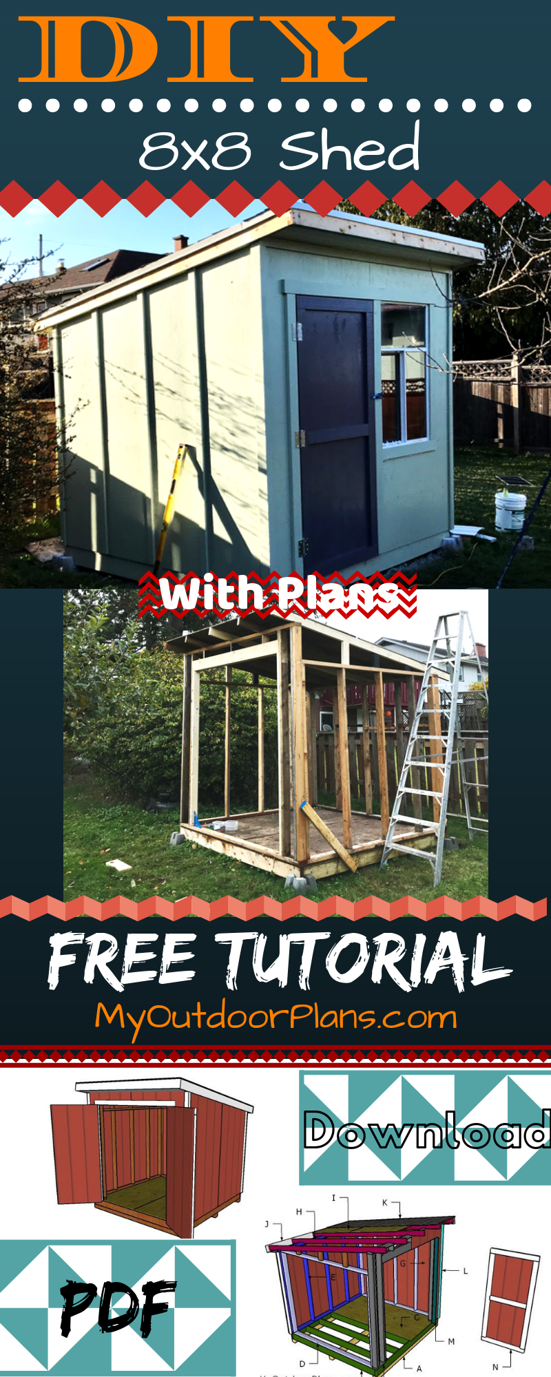 8x8 Bedroom Design: Easy To Follow Plans For You To Build A Super Sturdy 8x8