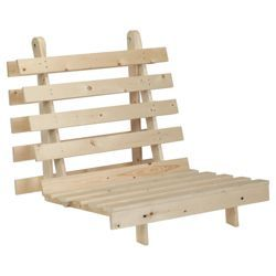 Helsinki Single Pine Futon Frame Only Natural From Our Sofa Beds Futons Range Tesco Com