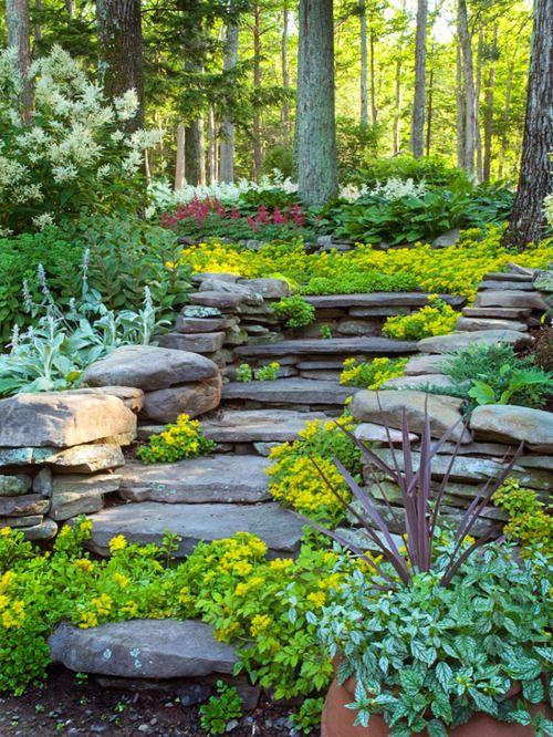 escalier naturel | jardin | Amenagement jardin, Jardins et Comment ...
