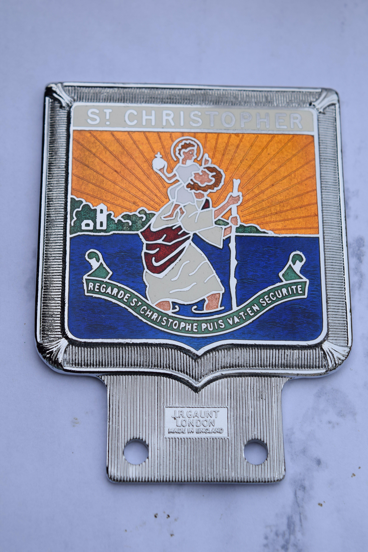 Vehicle Parts & Accessories Vintage St Christopher Car Badge