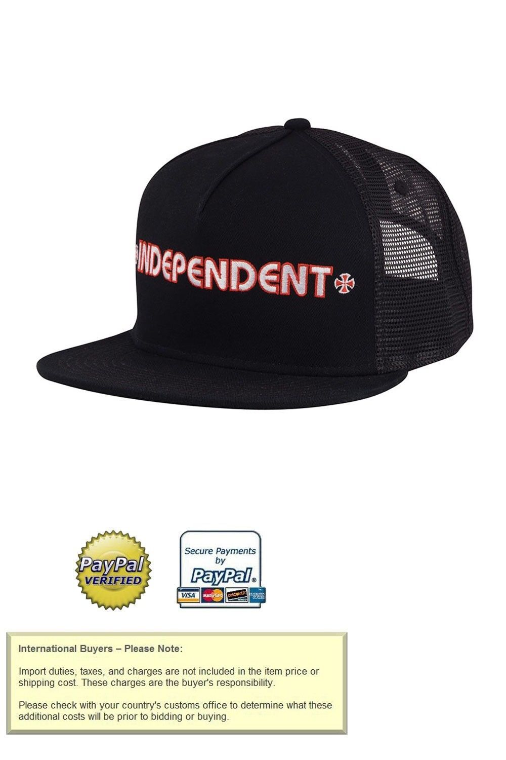 6d74d0f4b2ca6 Clothing Shoes and Accessories 159077  Independent Trucks Bar Logo Snapback Skateboard  Trucker Hat Black -  BUY IT NOW ONLY   22.95 on eBay!