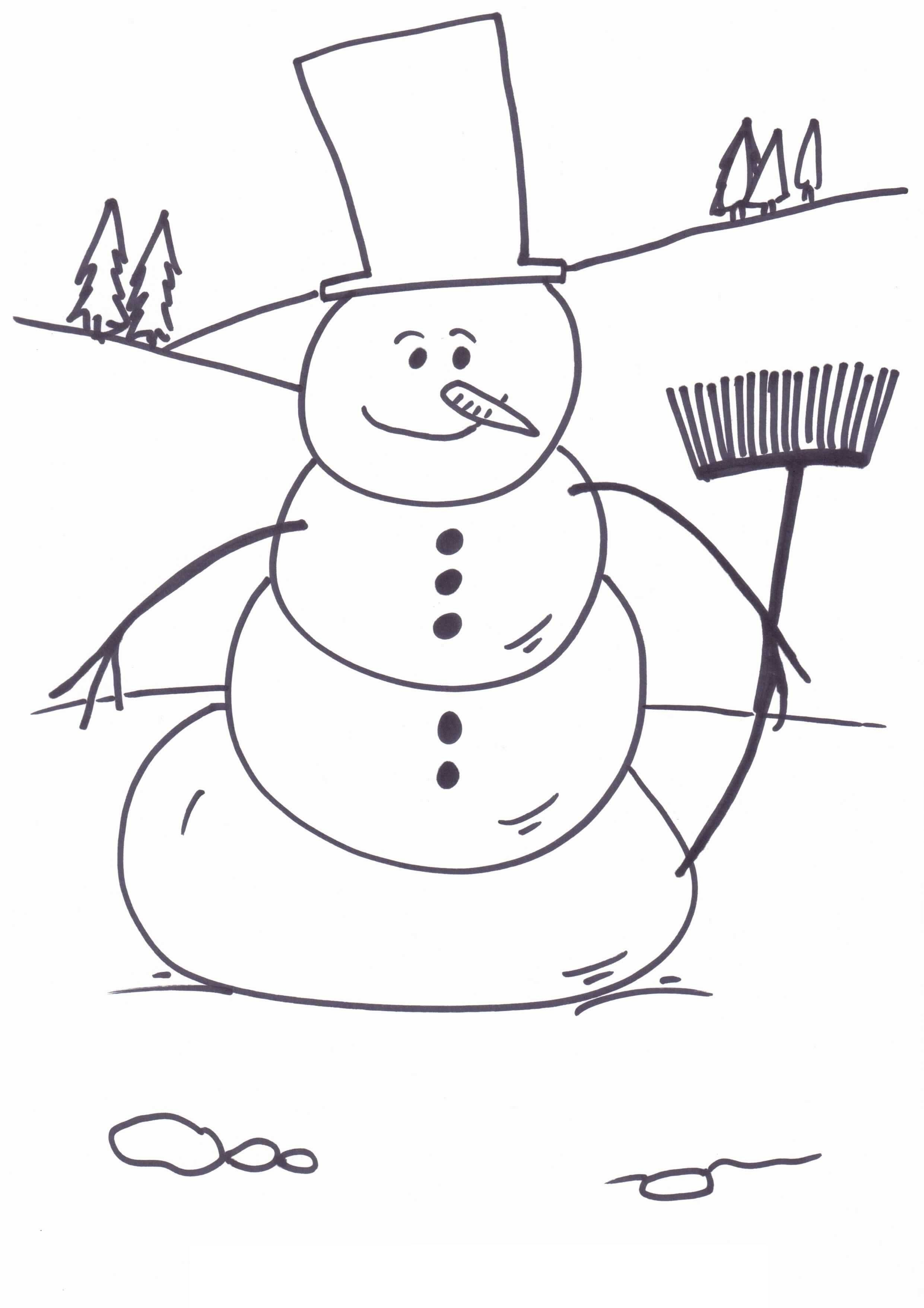 Christmas Coloring Pages Snowman | Guiding Little Minds | Pinterest