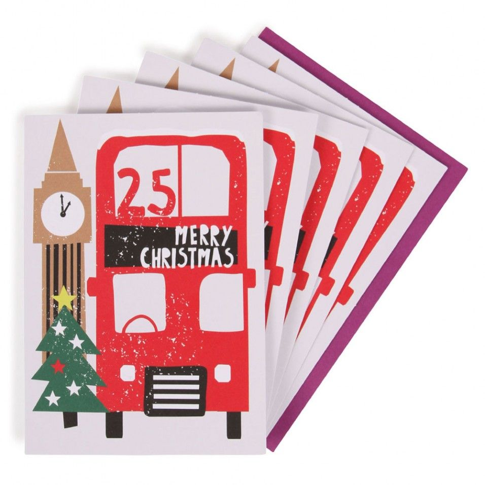 London Scene Charity Christmas Cards Pack Of 10 All I Want For