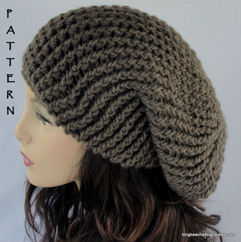 Crochet Hat Pattern, ALL SIZES, Toddler - Child - Adult, Slouchy Hat ...