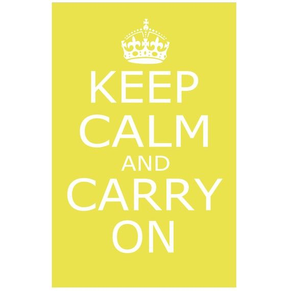 Keep Calm and Carry On - Wall Art - 13x19 Large Poster Size Print ...