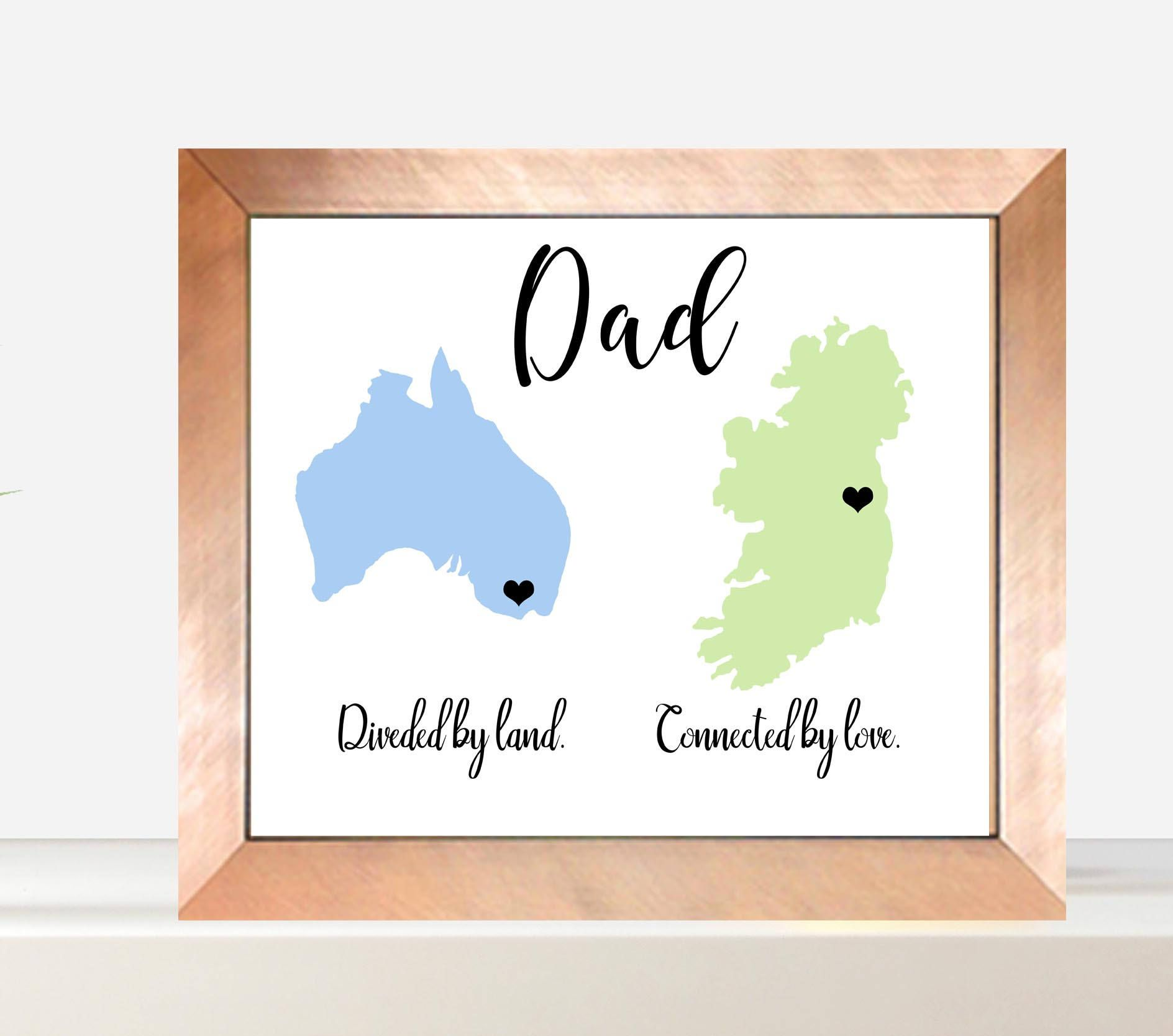 Across The Miles Land Dad, Dad Gift, Fathers Day, Christmas