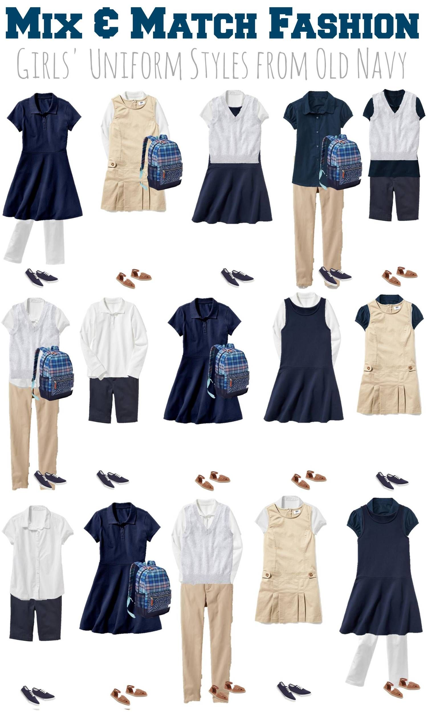 153d98648 7.27 Mix & Match Fashion - GIRLS School Uniforms from Old Navy VERTICAL