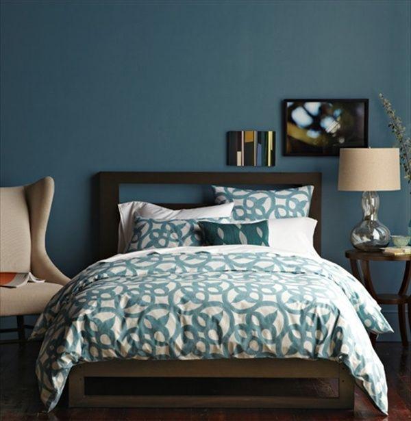 38050b50a819 Trednfarbe Blau, Schlafzimmergestaltung in der Trendfarbe 2015 - Blau- und  Aquamarintöne in der Inneneinrichtung