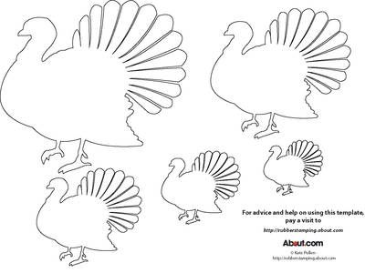 printable #templatesTurkey Template for Rubber Stamping and