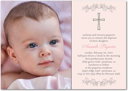 Christening photo invitations google search christening christening invitations stopboris Image collections