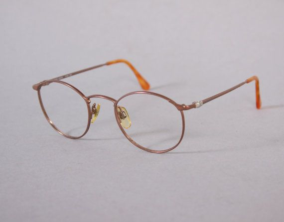 armani glasses frames thin aged gold wire frame eyeglasses