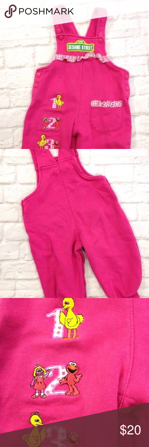 Pink Ruffle Overalls