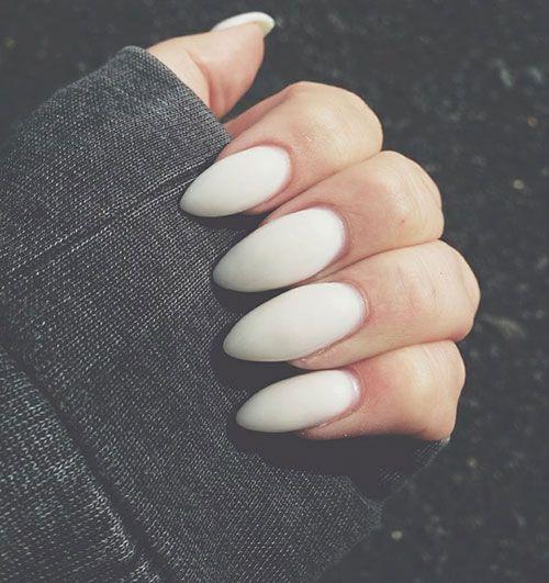 White Matte Stiletto Nails