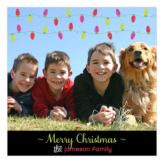 Merry Bright Lights Photo Card The Most Wonderful Time Of The