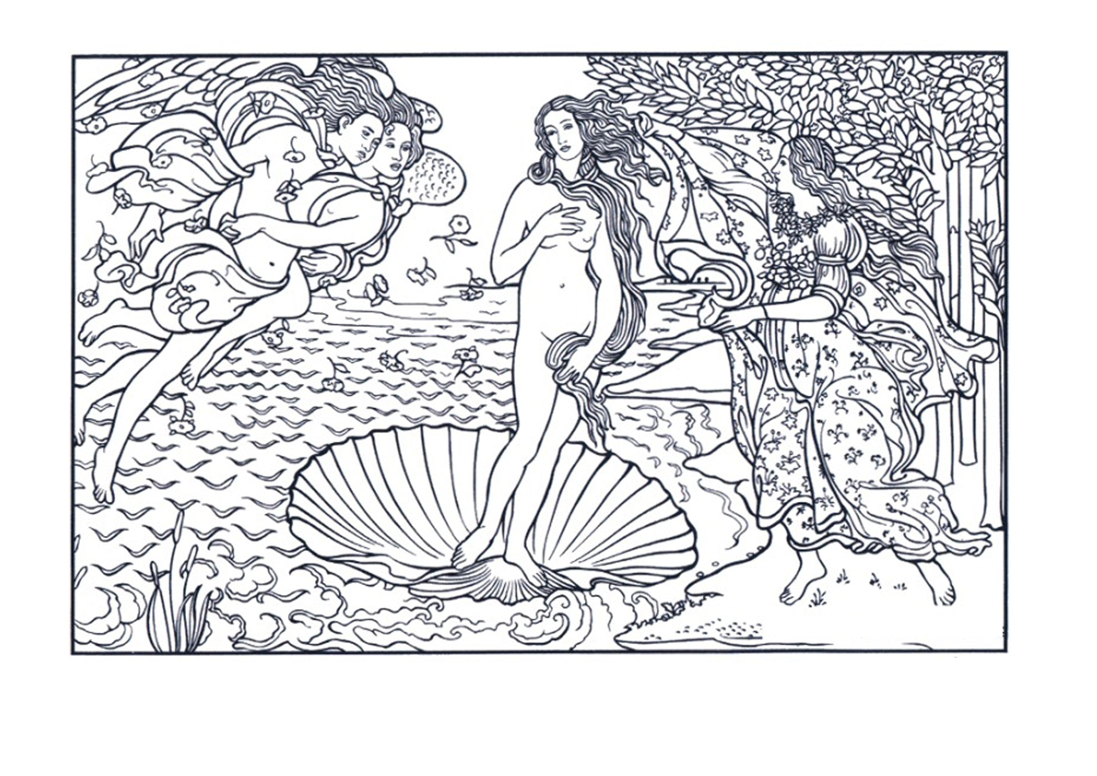 El nacimiento de Venus. Botticelli | ΖΩΓΡΑΦΟΙ | Pinterest