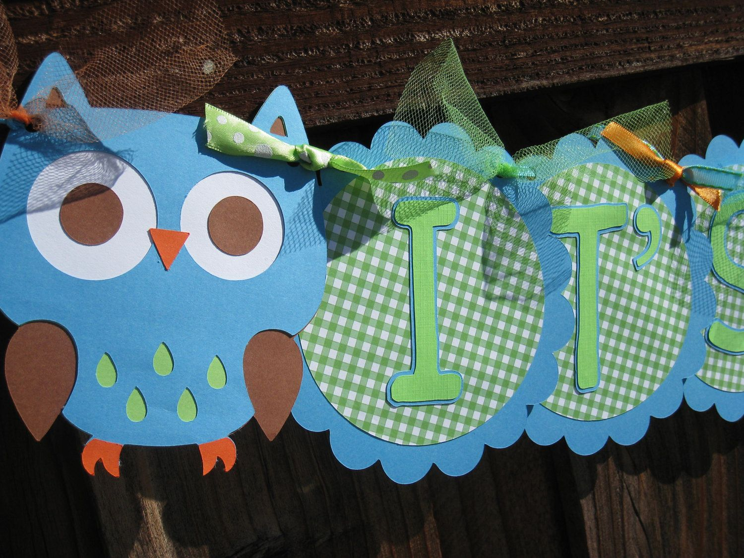 Owl Decorations For Boy Baby Shower - Owls themed baby showers baby shower banner it s a boy owl themed by littlebirdipapershop
