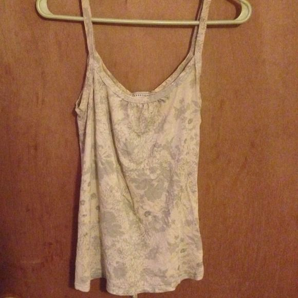 AF vintage floral tank top Not really vintage but this is definitely an older one.  It cinches in the back, perfect tank to wear just lounging or layer it up for work Abercrombie & Fitch Tops Tank Tops