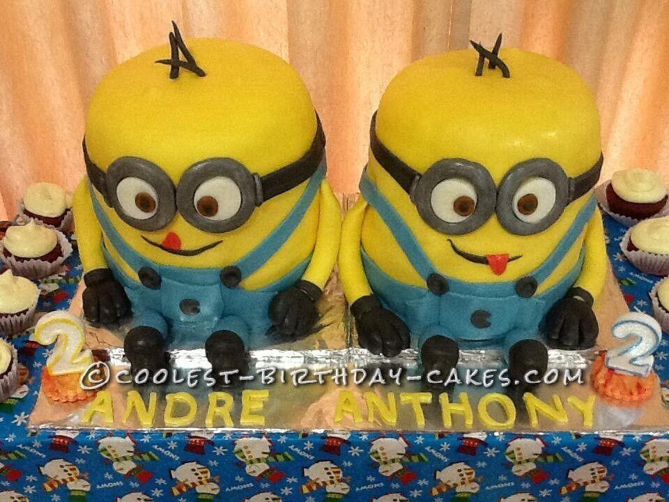 Awesome Twin Minion Cake