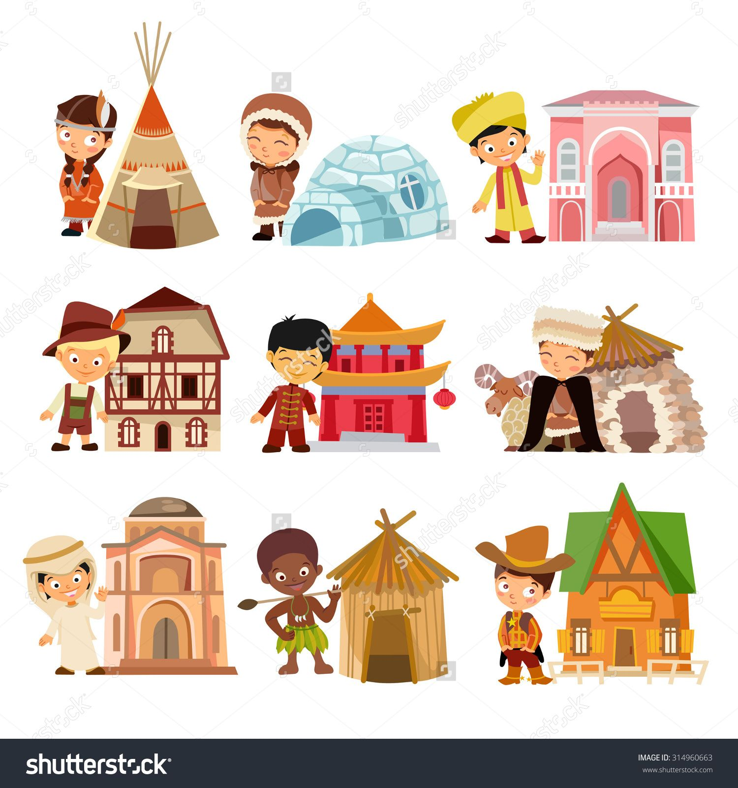 Apartments Around The World: People Of Various Nationalities With Their Traditional