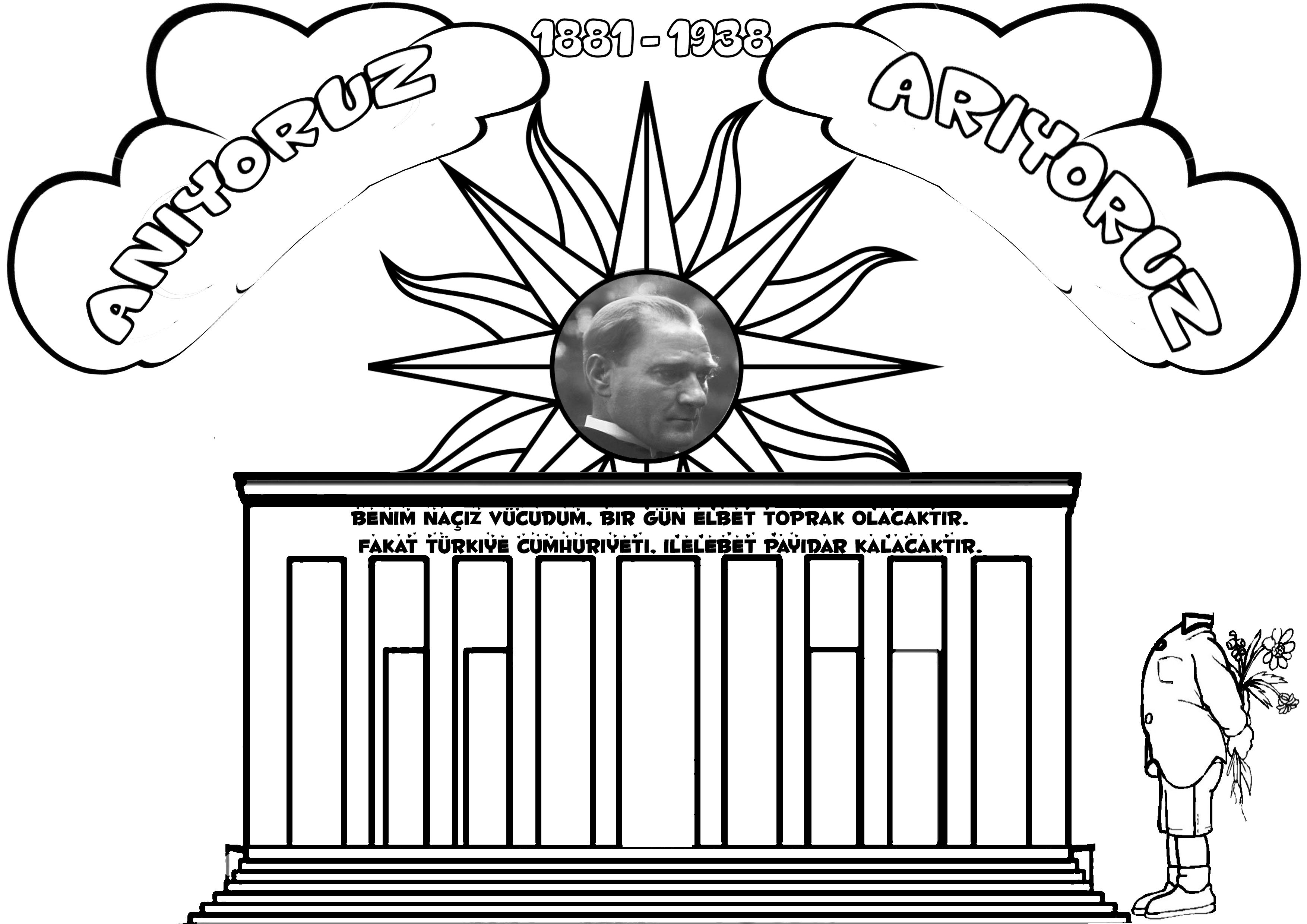 Zerrin Ates Adli Kullanicinin Ataturk Panosundaki Pin Boyama