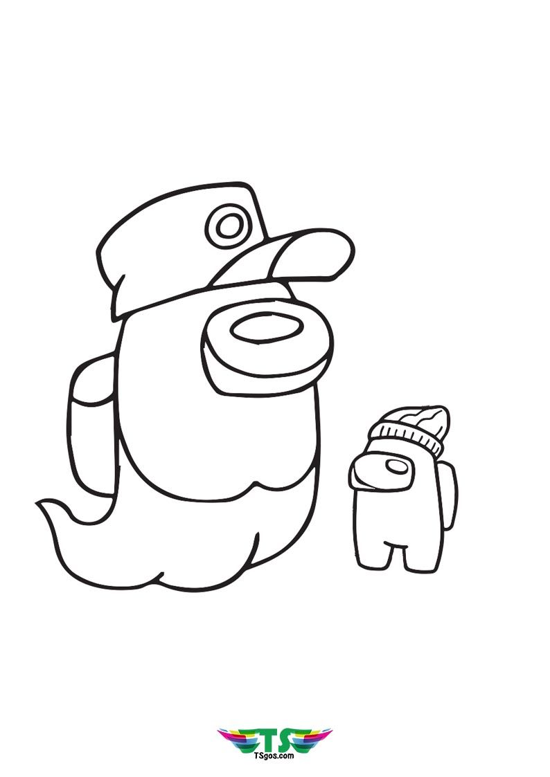 Among Us Funny Ghost Coloring Page Funny Ghost Coloring Pages Ghost