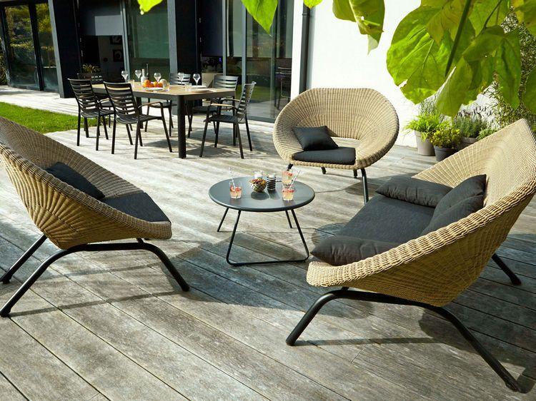 Terrasse En Bois Comment Bien L Entretenir Mobiliario Terraza Muebles De Mimbre Diseno De Terraza