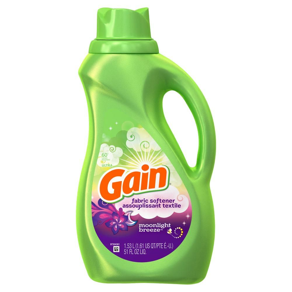 Gain 51 Oz Moonlight Breeze Scent Liquid Fabric Softener 60