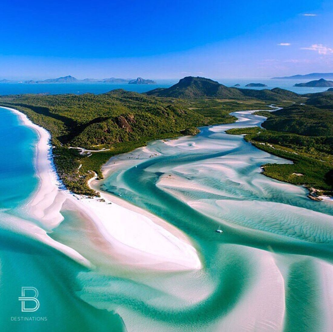 Hill Inlet, Whitsunday Island, Australie