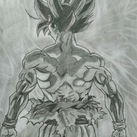 Ultra instinct goku drawing sketch yo goku drawing sketches y drawing sketches - Goku ultra instinct sketch ...
