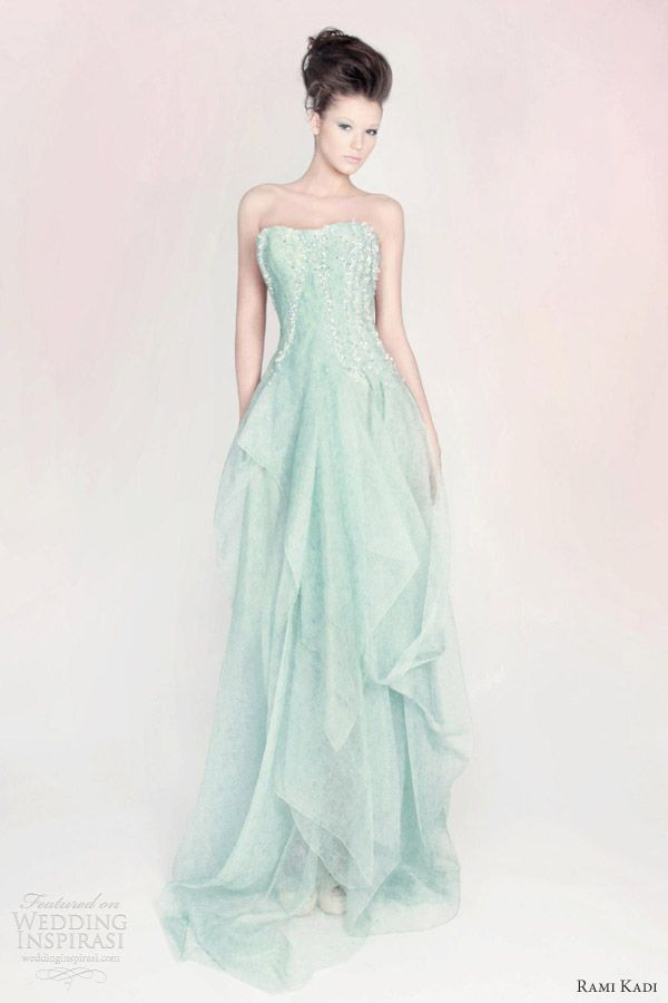 rami kadi spring 2013 hand embroidered draped organza gown