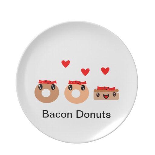 Bacon Donut Dinner Plates $24.95