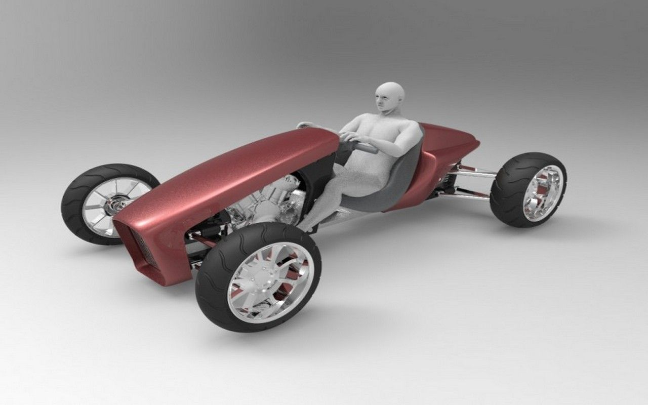 Futuristic, 3d printed challenge, year 2040, Personal Hot-Rod ...