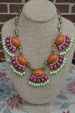 Gorgeous Glare - (Orange) | RMC JEWELRY #shoponline #shoprmc #rmcjewelry #statementnecklace #boutique #downtownsavannah