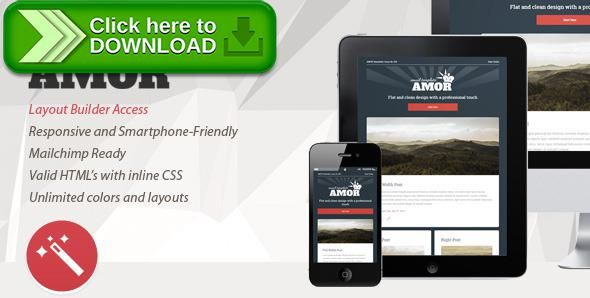 Free Nulled Amor V  Flat  Clean Responsive Email Template