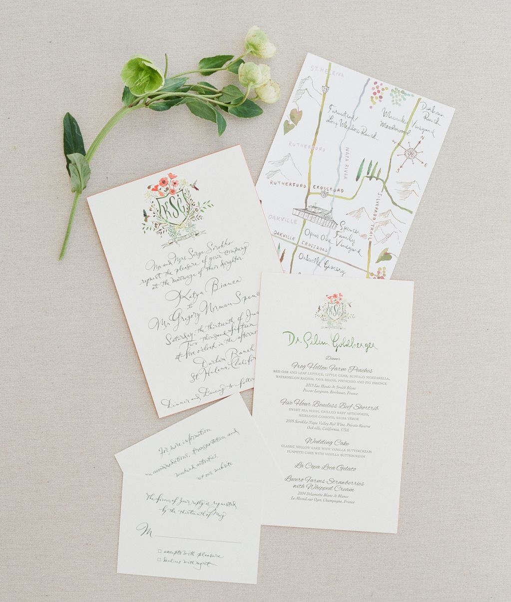 wedding invitations map%0A Best Of         Handlettered Wedding Suite with Custom Map and Custom Crest
