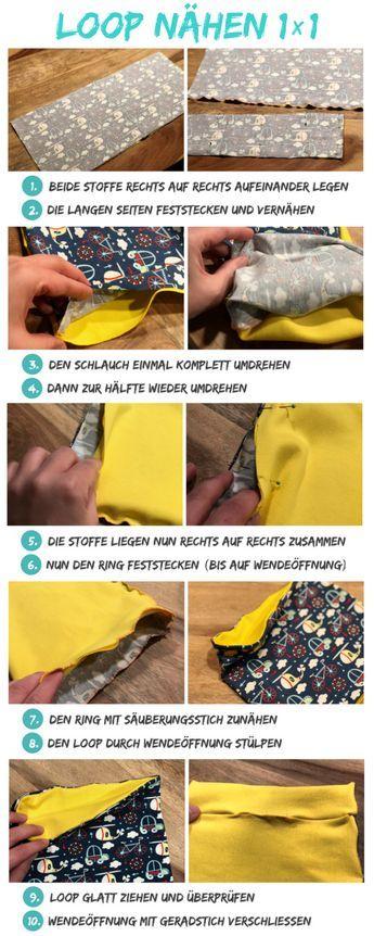 Photo of Loop nähen – Anleitung und Schnittmuster für Jersey-Loops