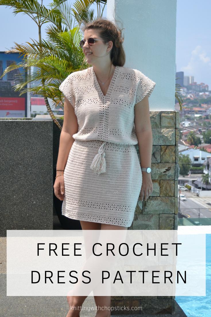 Pretty Spring Dress FREE Crochet Pattern for woman