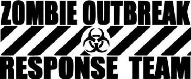 Zombie outbreak response team die cut vinyl sticker decal sticky addiction