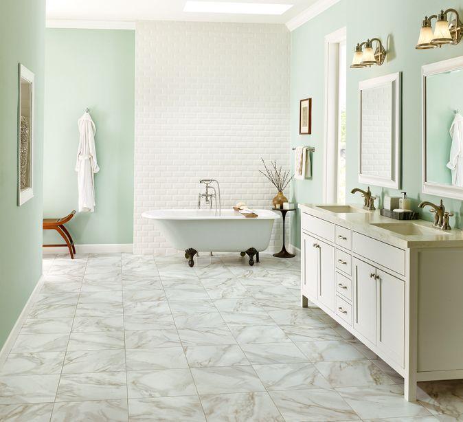 Armstrong alterna luxury vinyl tile rossini marble gray for Luxury vinyl bathroom flooring