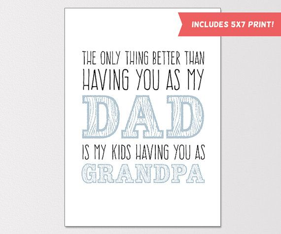 Printable fathers day card fathers day print gift for dad print printable fathers day card fathers day print gift for dad print handmade fathers day card diy paper goods spiritdancerdesigns Images