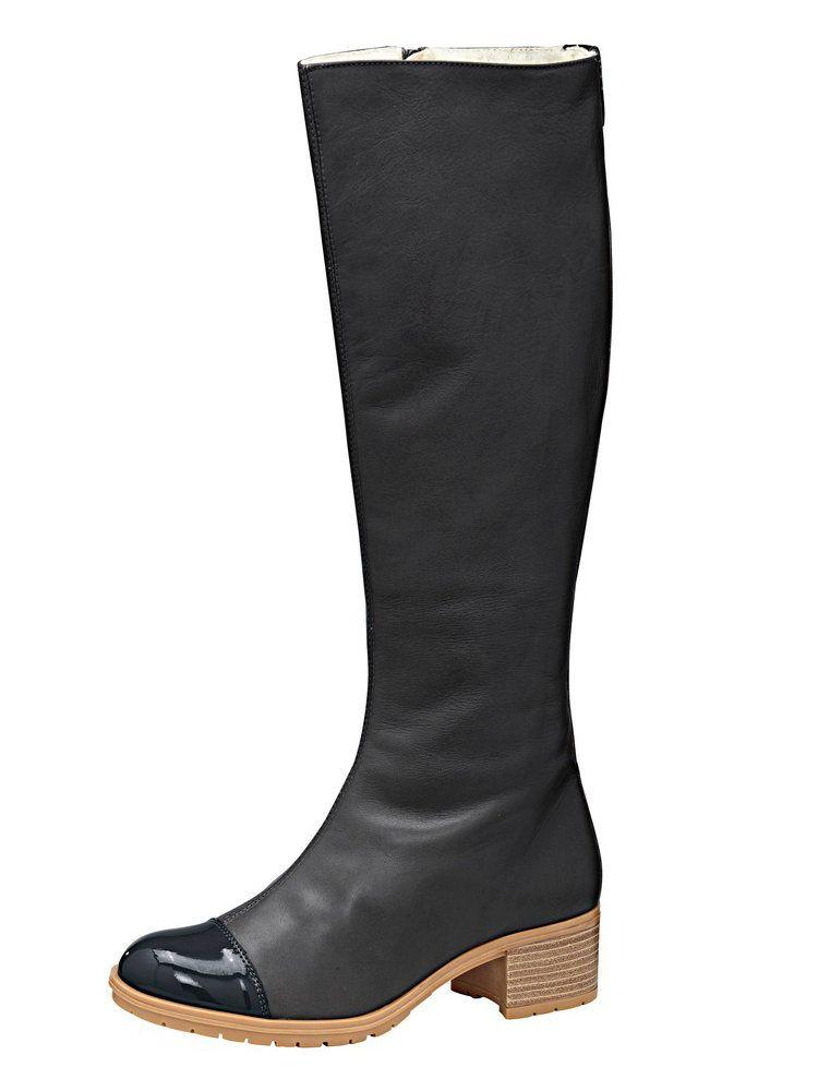 Bottes à bout rond verni, talon large   Chaussures femme   Pinterest ... 0cb12e3d8e89