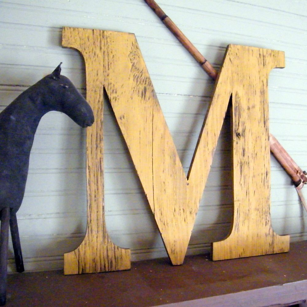 Large Wooden Wall Letters | Sevenstonesinc.com