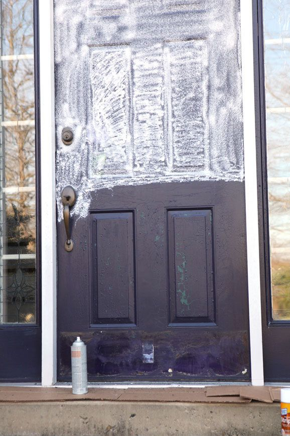 How To Paint A Metal Exterior Door Home Decorating Painting