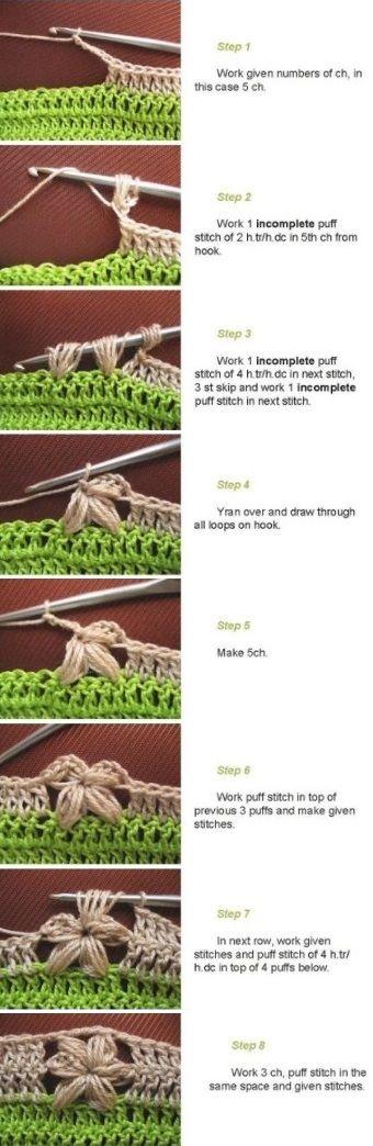 Crochet 5 Petal Flower Edge | Pinterest | Ganchillo, Patrón de ...