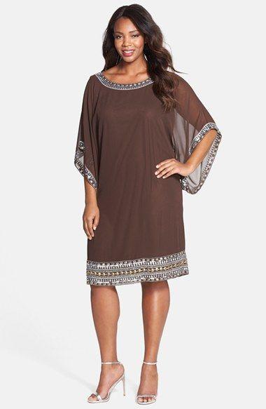 J+Kara+Embellished+Chiffon+Dress+(Plus+Size)+available+at+# ...
