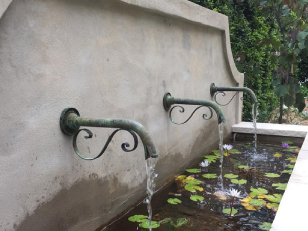 Classic French Bronze Spout Water Walls Fountain Design Fountain