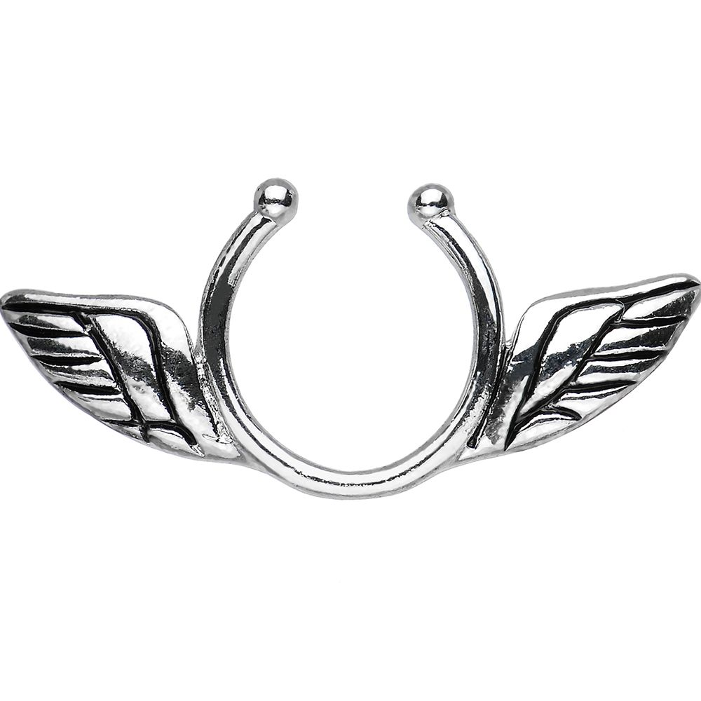Antique Angel Wings Clip On Nipple Ring